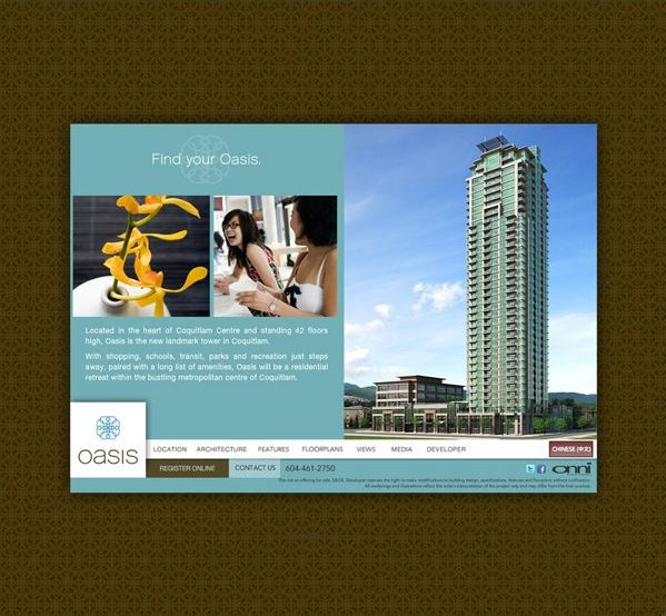 Web Design Oasis Development Vancouver Real Estate Opportunity